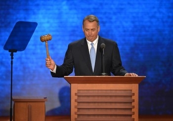 Boehner with gavel