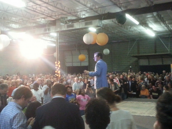 Sen Ted Cruz in Houston