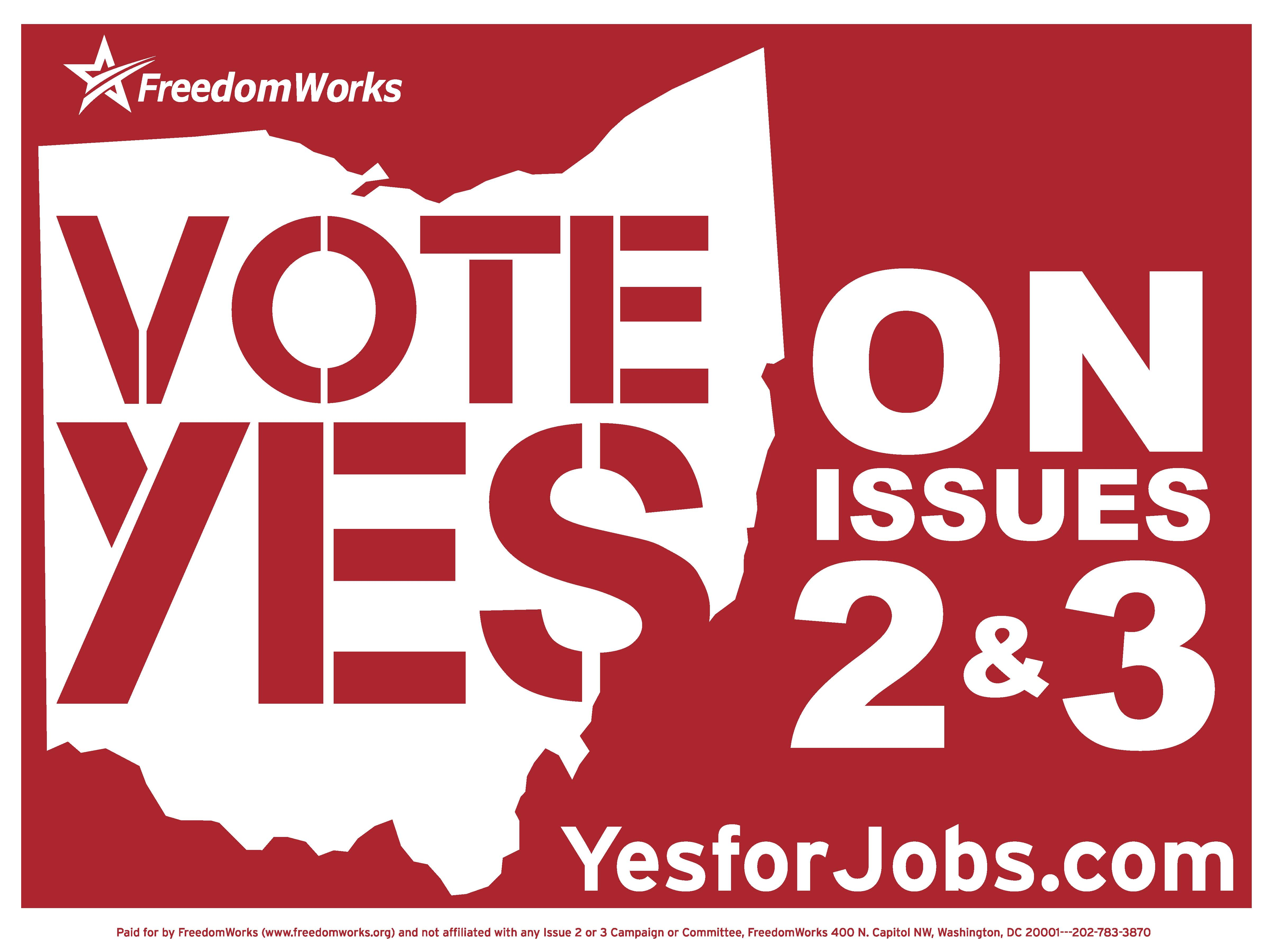 Yes on 2 & 3 Yard Sign