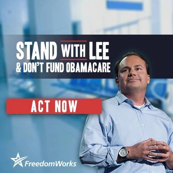 Lee Defund ObamaCare