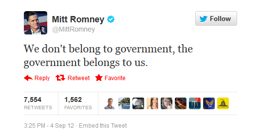 Romney's tweet in response